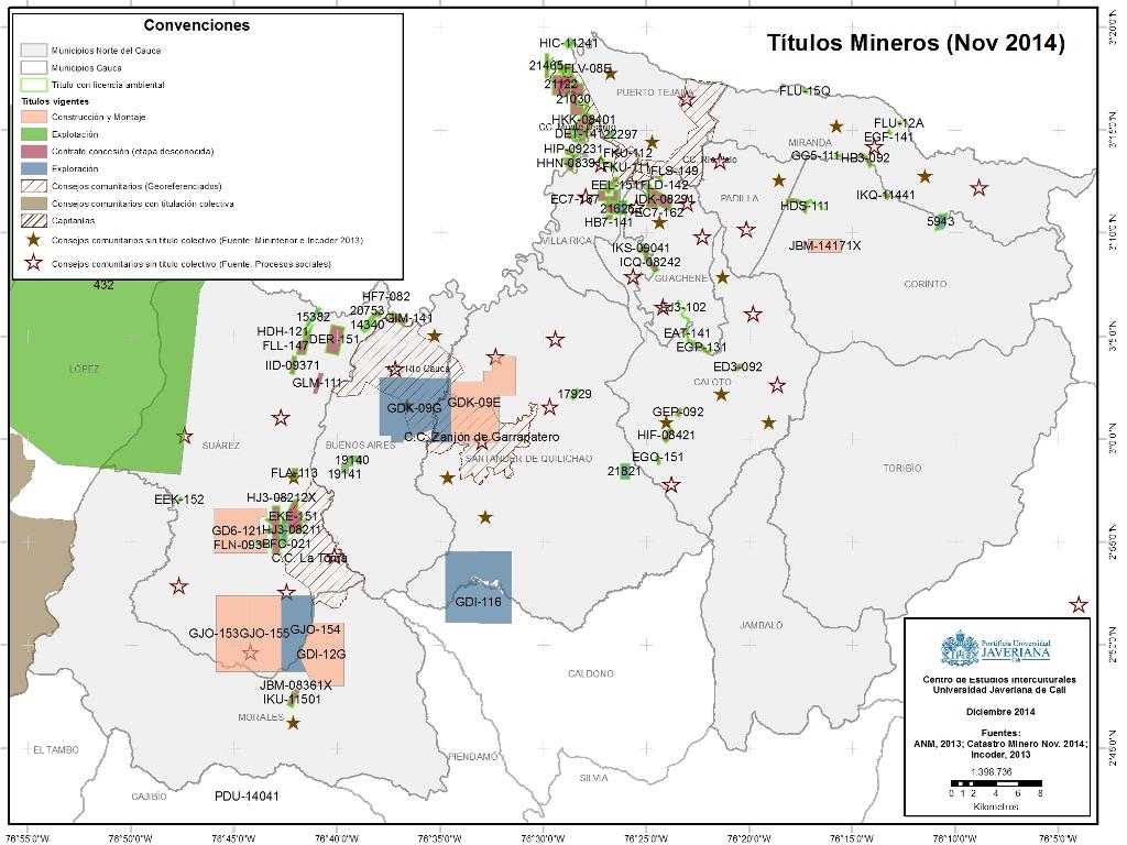Títulos Mineros Norte del Cauca